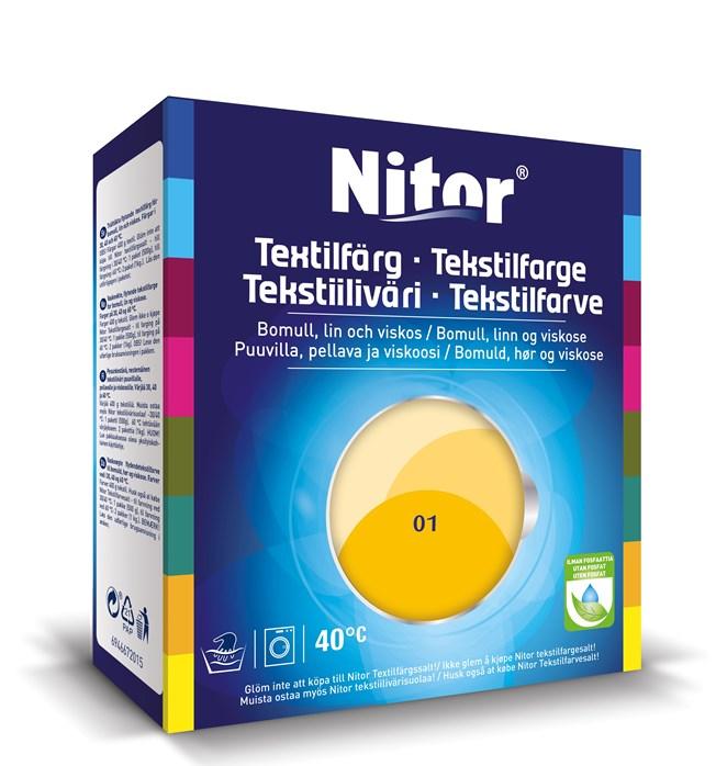 Nitor Textilfärg Solros 01