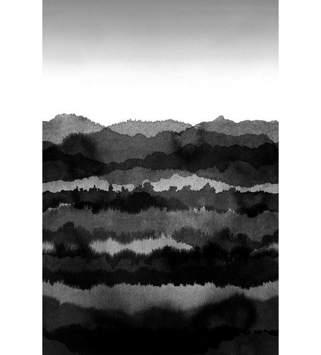 Sandberg Wallpaper Midnatt Dark Grey
