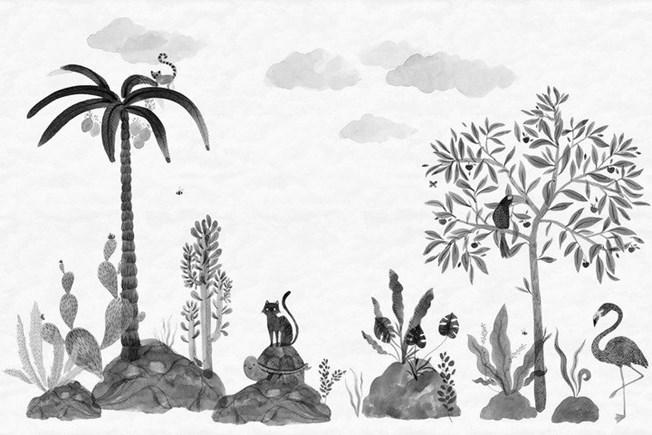 Sandberg Wallpaper Wilton Graphite tapet