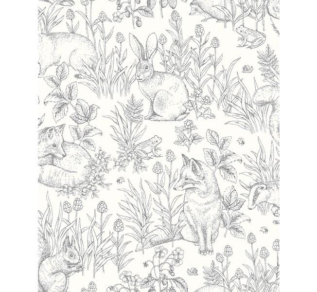 Boråstapeter Newbie Wallpaper Forest Friends - Grafisk Tapet