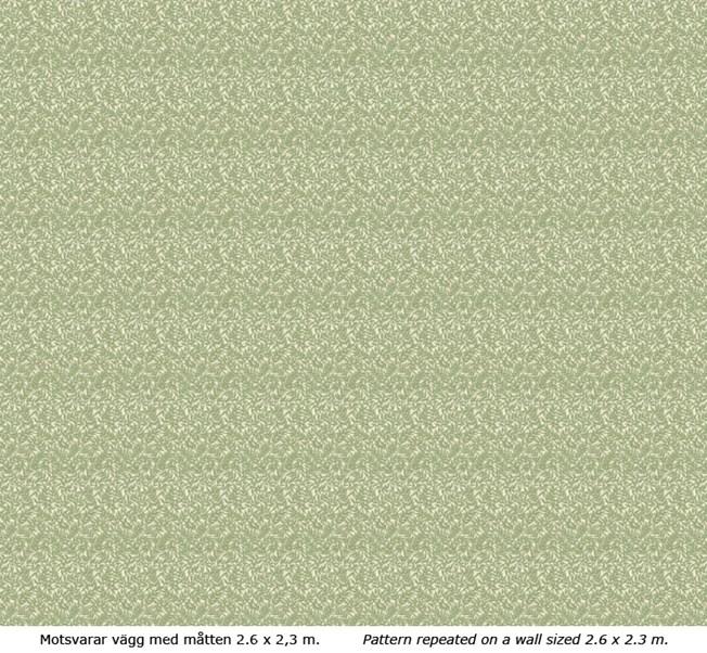 Lim & Handtryck Bladmönster - Kvist/Grön