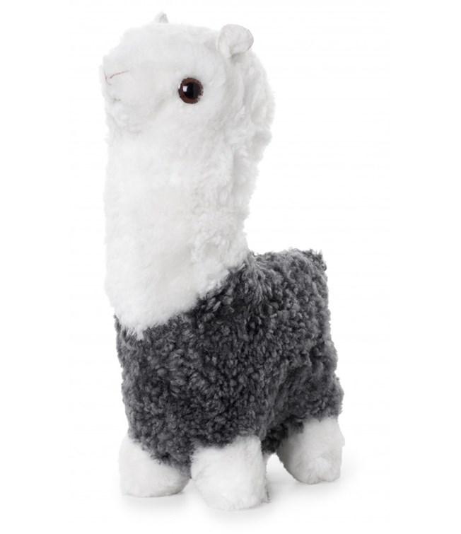 Skinnwille Curly Alpaca Mjukdjur Lammskinn