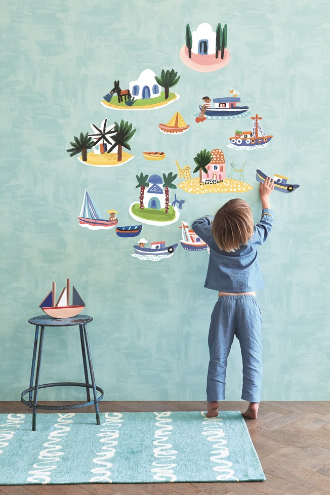 Villa Nova Island Hopping Wall Stickers