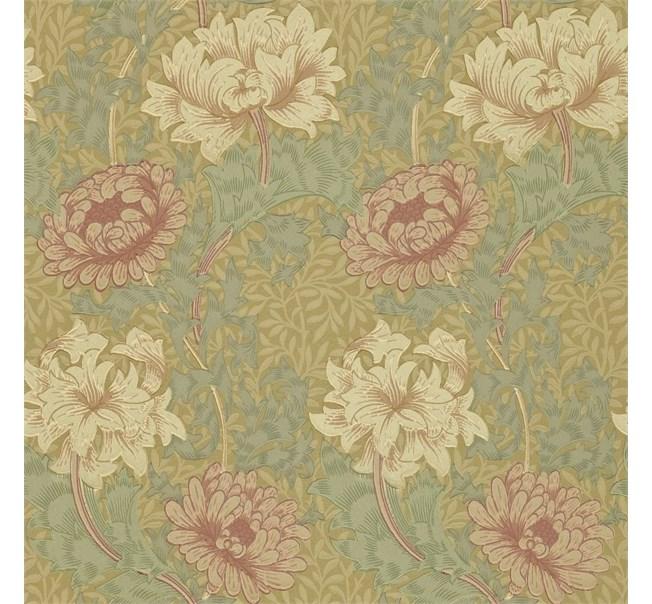 Morris & Co Chrysanthemum Pink/Yellow/Green