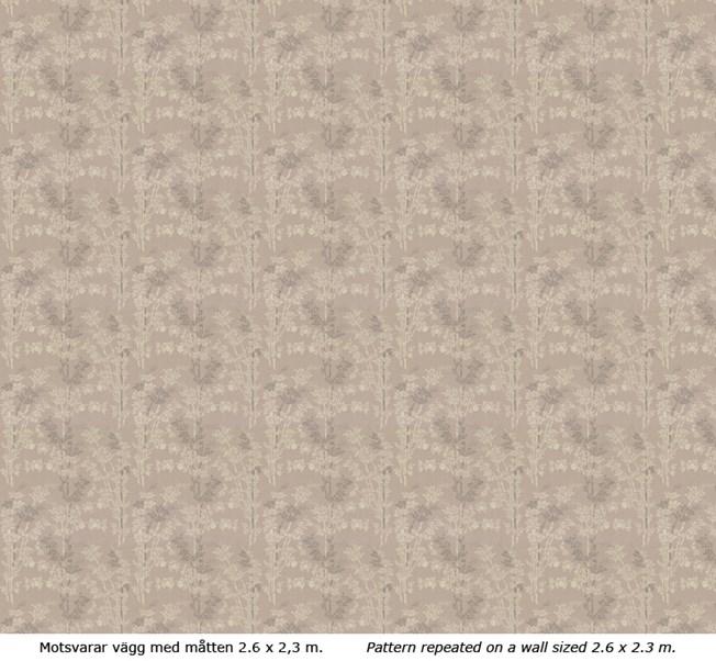 Lim & Handtryck Bambu - Grå/Vit