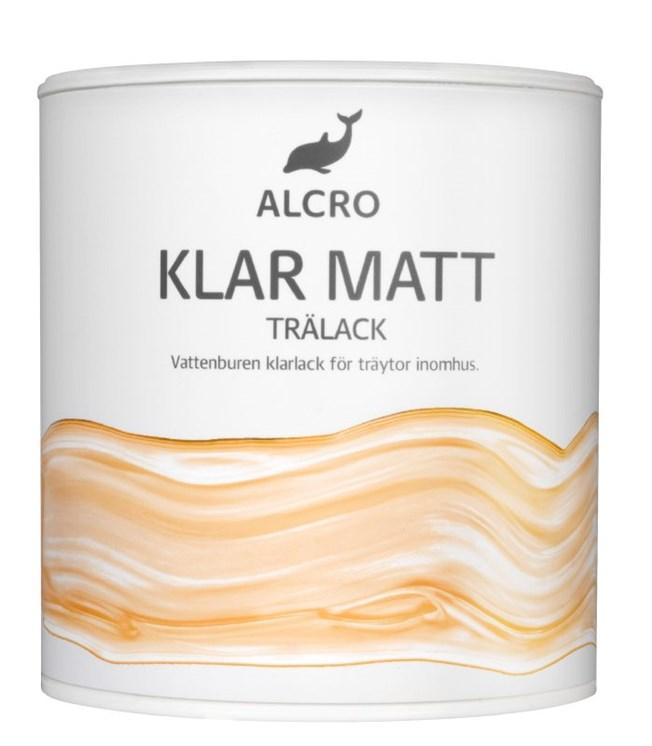Alcro Klar Trälack Matt
