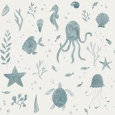 Sandberg Wallpaper Della Ocean Blue