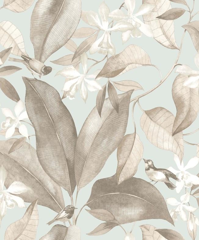 Casadeco Delicacy Birdsong Bleu/Taupe