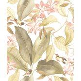 Casadeco Delicacy Birdsong Vert/Rose