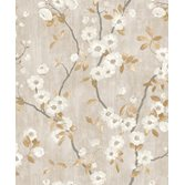 Casadeco Delicacy Spring Flower Taupe/Noir