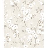 Casadeco Delicacy Spring Flower Blanc/Gris