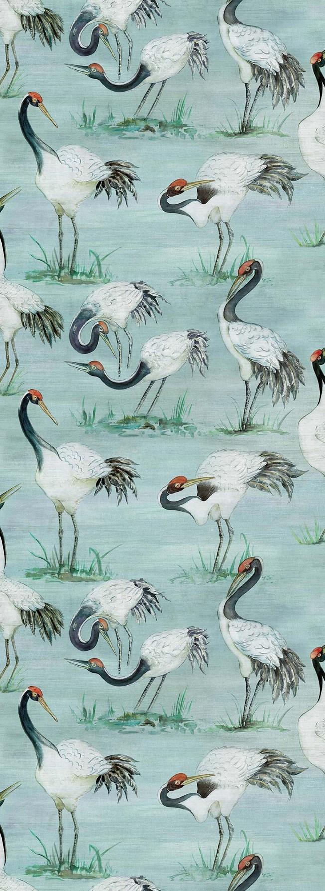 Osborne & Little Cranes tapet