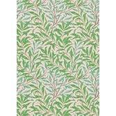 Morris & Co Willow Bough Pink Leaf Green