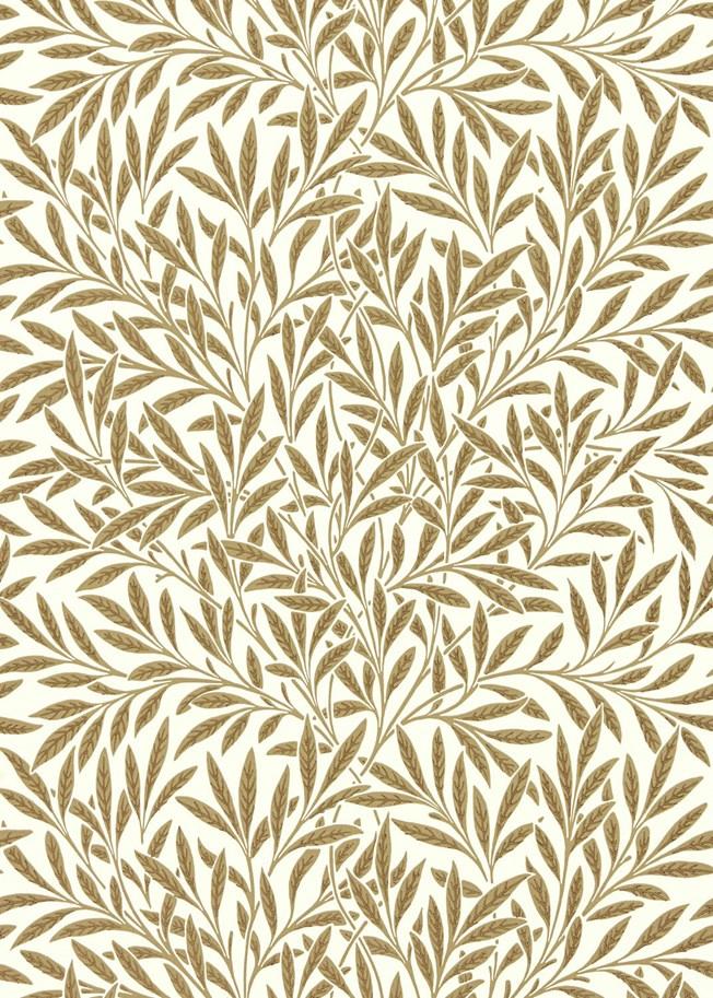 Morris & Co Willow Cream Brown tapet