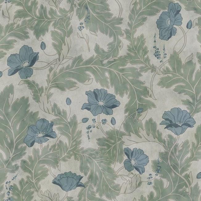 Sandberg Wallpaper Poppy Garden Green