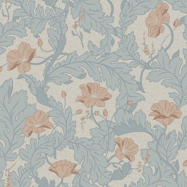 Sandberg Wallpaper Charlotta Sky Blue tapet