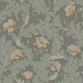 Sandberg Wallpaper Charlotta Forest Green tapet