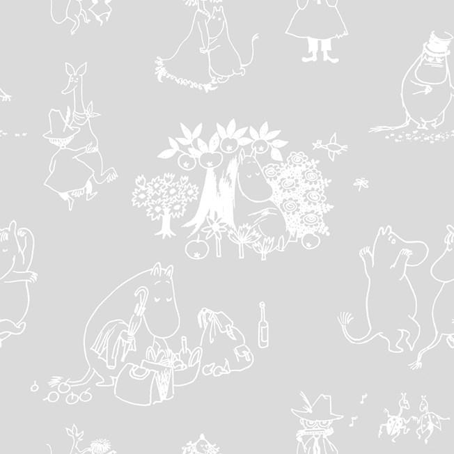 Sandudd Tapetterminalen Moomin Juhlat tapet