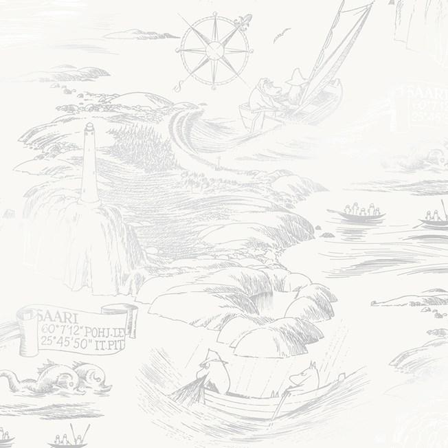 Sandudd Tapetterminalen Moomin Meri tapet