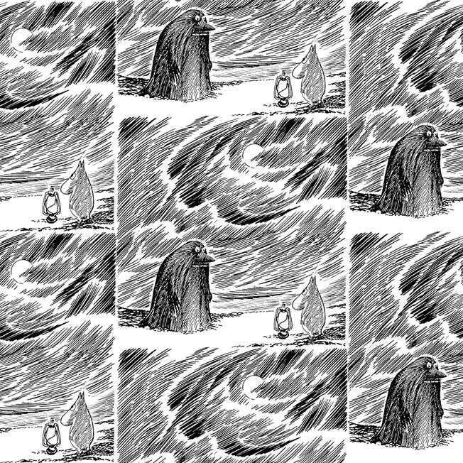 Sandudd Tapetterminalen Moomin Mörkö tapet