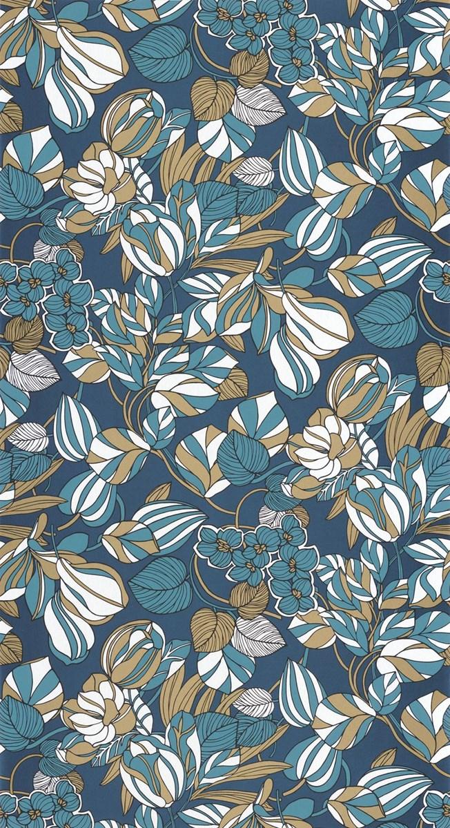 Casadeco Tulip Blue/Gold
