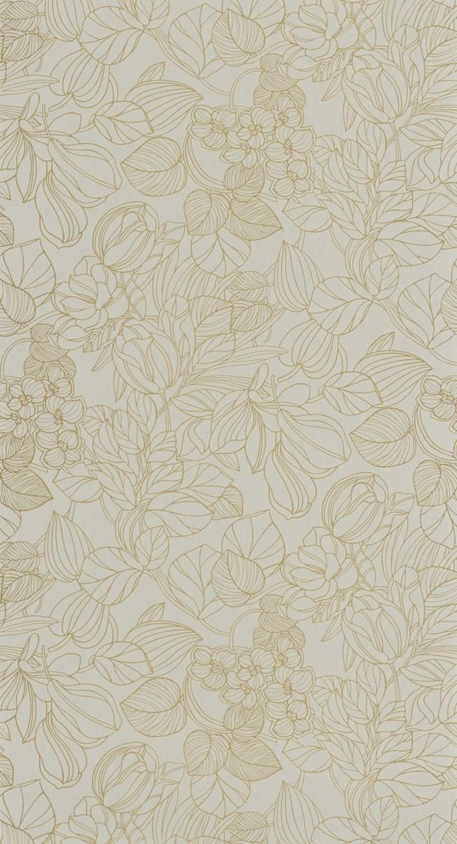Casadeco Engraving Almond/Gold