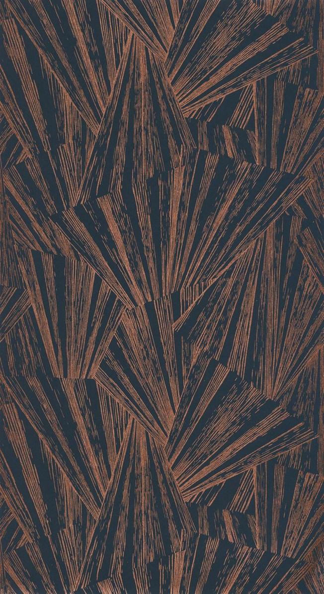 Casadeco Eclat Foil Blue/Copper