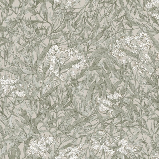 Sandberg Wallpaper Malin Sage Green tapet
