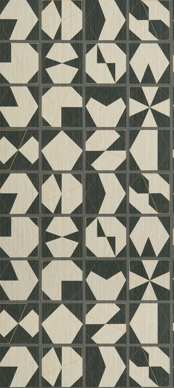 Osborne & Little Kutani Vinyl Ivory/Charcoal