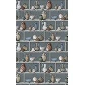 Osborne & Little Raku Celadon/Ivory/Terracotta tapet