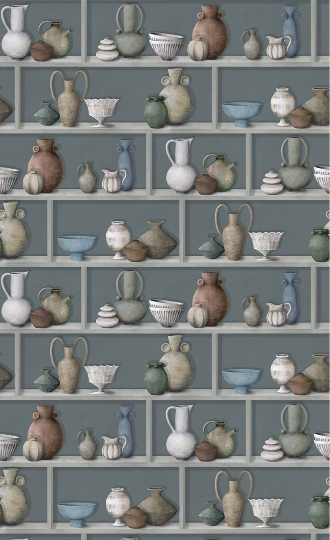 Osborne & Little Raku Celadon/Ivory/Terracotta