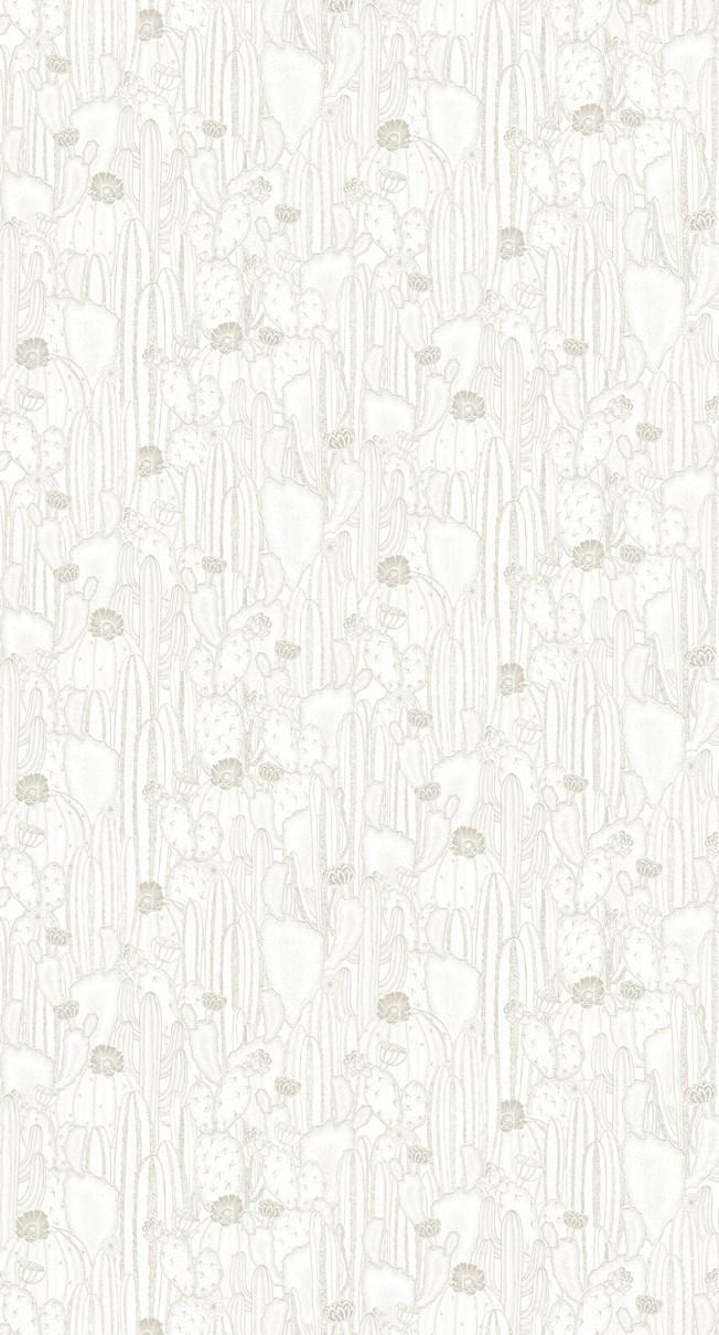 Casadeco Botanica Cactaceae Blanc Taupe
