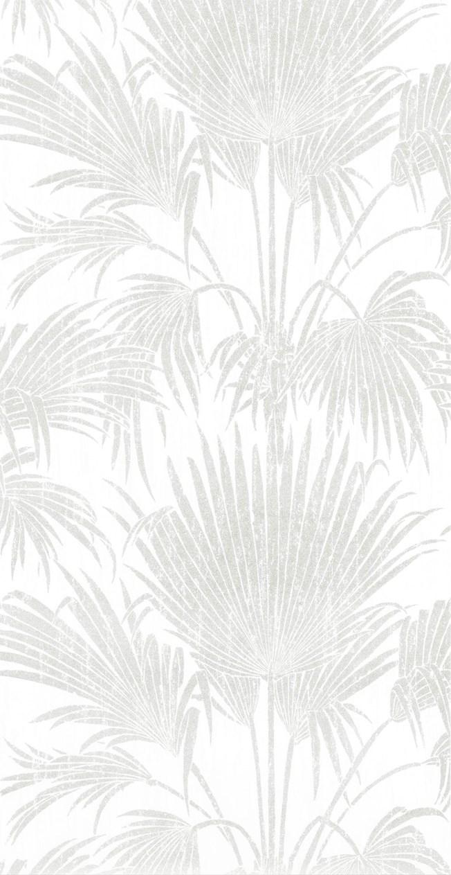 Casadeco So White 4  Josephine Foil Gris/Argent