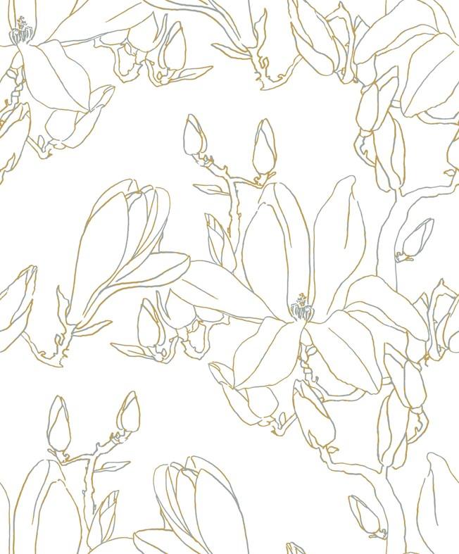 Casadeco So White 4 Magnolia Jaune