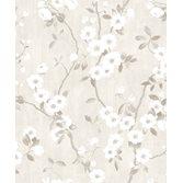 Casadeco So White 4 Spring Flower Blanc / Gris