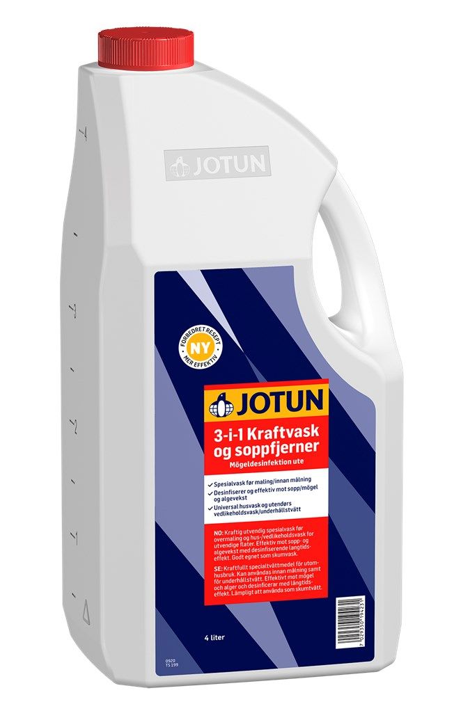 Jotun 3-i-1 Kraftvask och mögeldesinfektion
