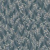 Sandberg Wallpaper Liljekonvalj Indigo Blue tapet