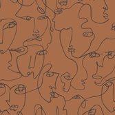 Intrade amazonia Linear Visage Burnt Orange tapet