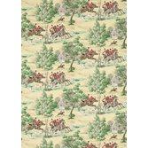 Sanderson Tally Ho Evergreen/Crimson tapet