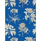 Sanderson Etchings & Roses French Blue tapet