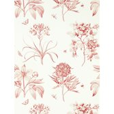 Sanderson Etchings & Roses Amanpuri Red tapet