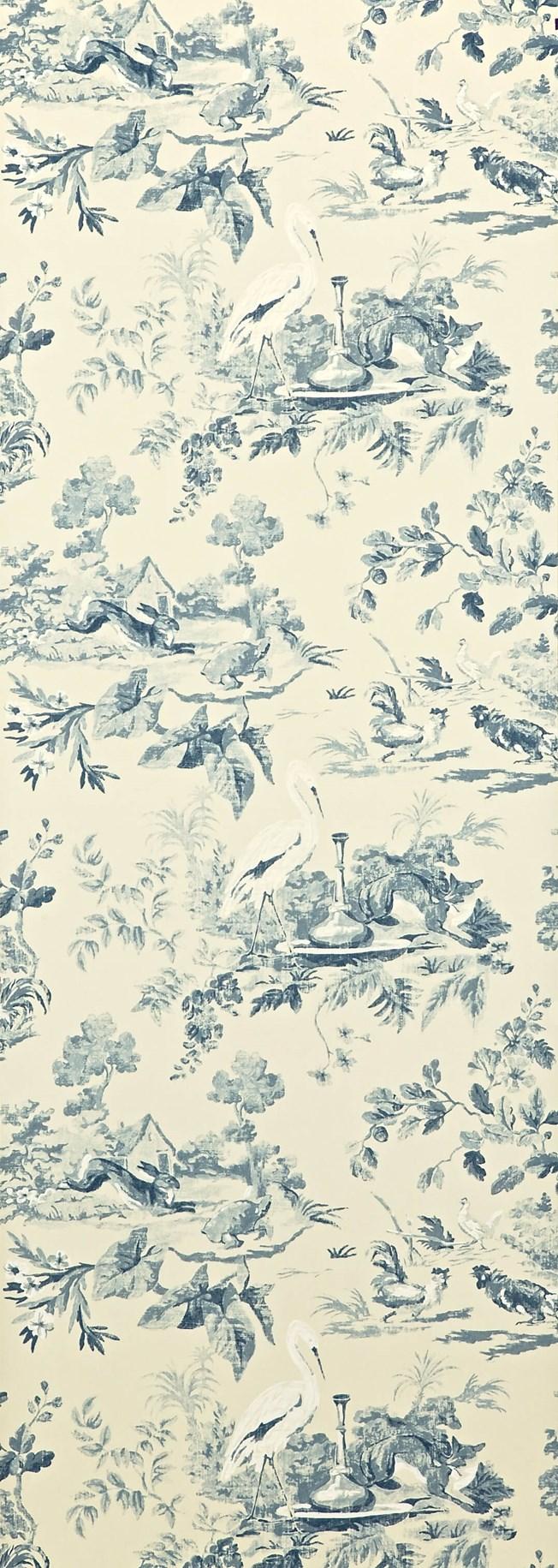 Sanderson Aesop's Fables Blue tapet