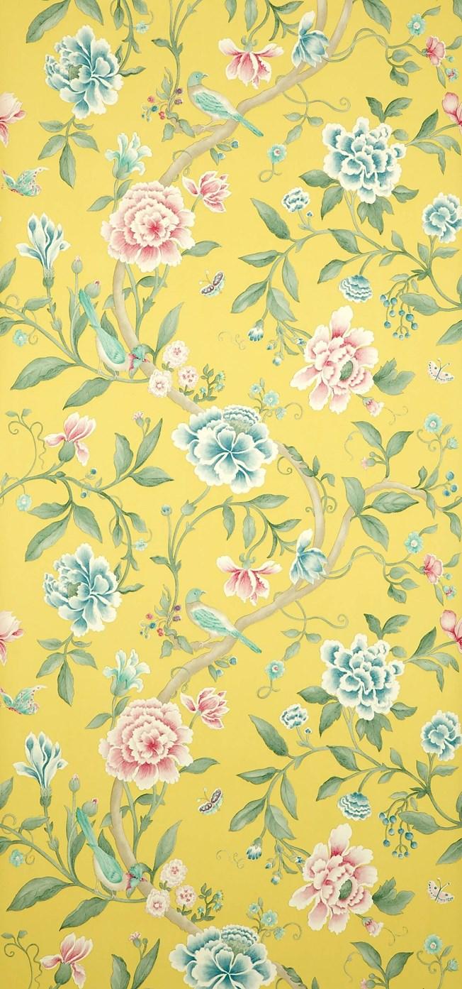 Sanderson Porcelain Garden Rose/Linden tapet