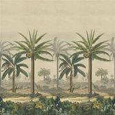 Designers Guild John Derian Palm Trail Scene 2 Sepia