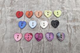 Hjärtformad Pärlemorknapp