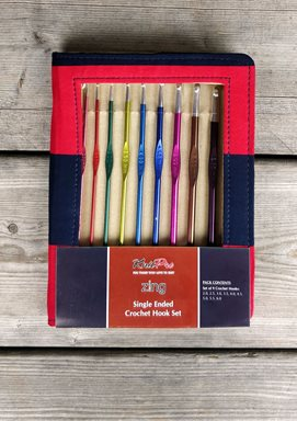 Zing Single Ended Crochet Hook Set