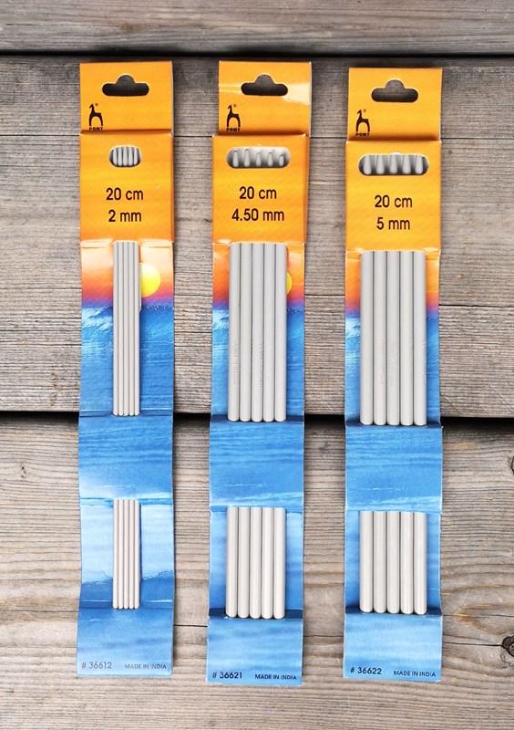 Strumpstickor Metall 20 cm