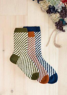 Sokker med diagonale striper