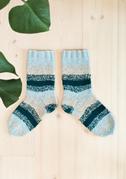 Melerte sokker i dobbel tråd