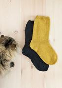 Ensfargede sokker